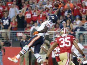 Marshall recebeu três touchdowns no Levi's Stadium
