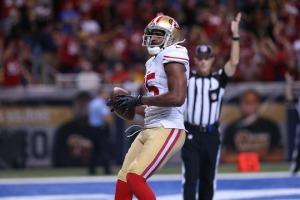 Crabtree recebendo o touchdown