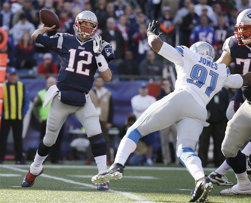 Brady foi pouco incomodado