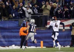 Edelman corta a defesa dos Patriots para o touchdown