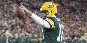 Aaron Rodgers comandou os Packers em vitória