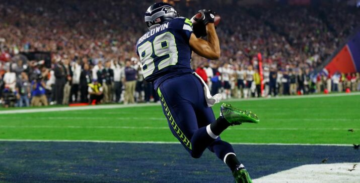 Doug Baldwin sozinho na end zone