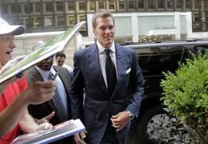 Tom Brady na chegada a sede da NFL