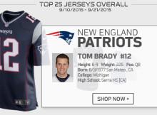 93ed1740ea Brady lidera venda de camisas desde o início da temporada