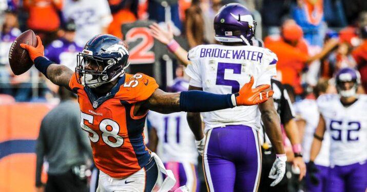 Defesa dos Broncos aterrorizou o time dos Vikings