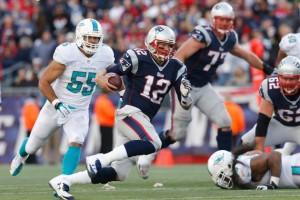 Brady terá o Miami Dolphins pela frente mais uma vez