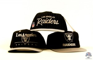 Boné do antigo Los Angeles Raiders