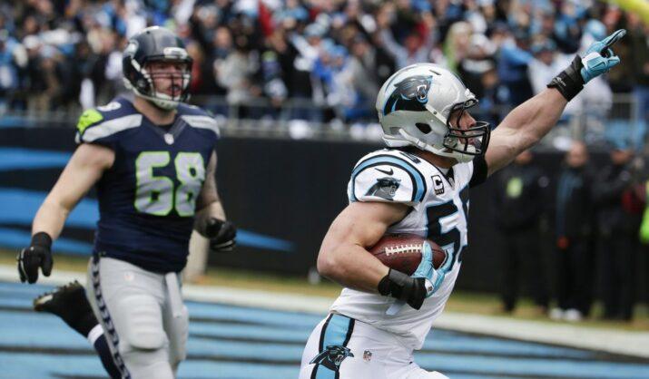 Kuechly retornou uma interceptação para touchdown