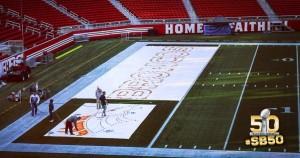 Levi's Stadium sendo preparado para o SB50