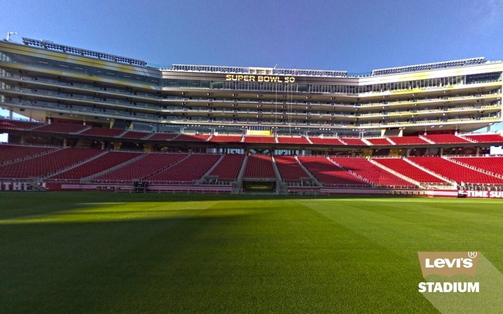 Camarotes e área de imprensa do Levi's Stadium - casa do Super Bowl 50