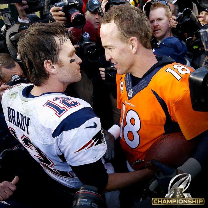 O encontro das duas lendas após o jogo