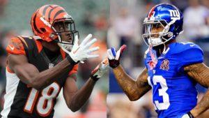 Green vs Beckham: dois dos melhores WRs da NFL