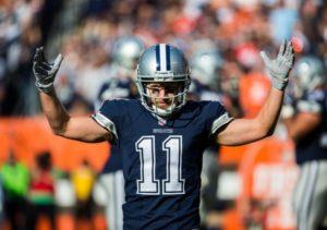 Cole Beasley comemora o seu touchdown