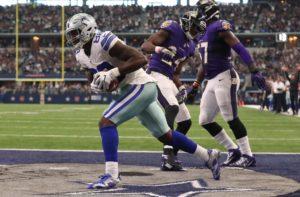 Bryant anotou dois touchdowns contra os Ravens