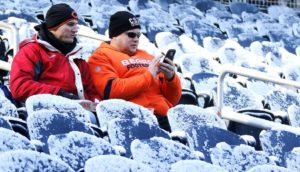 Chicago pode ter seu jogo mais frio na história