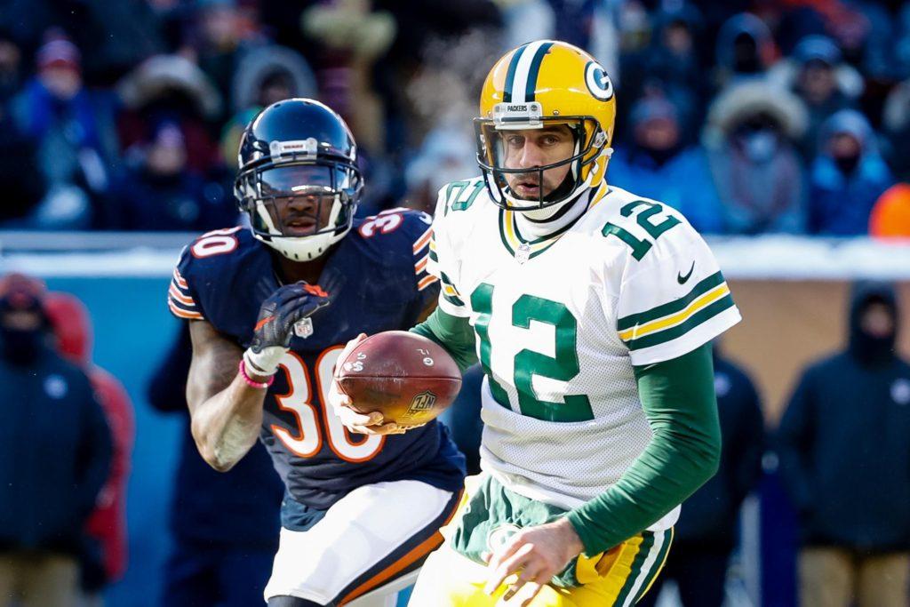 Aaron Rdogers foi mais uma vez decisivo contra os Packers