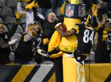 Comemorações de Antonio Brown são uma alegria a parte em jogos dos Steelers
